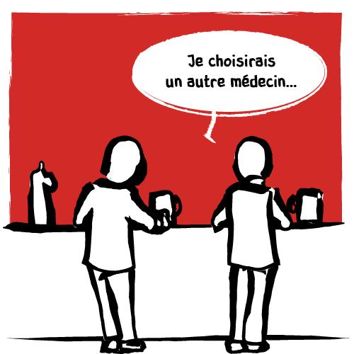 «Je choisirais un autre médecin…»